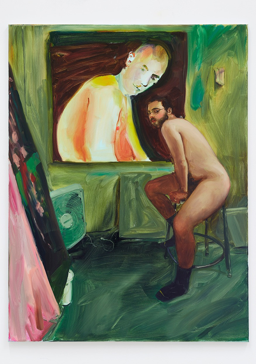 Jenna Gribbon  The Artist Eroticized (Anthony), 2020  Oil on linen  40 x 30 inches
