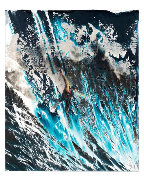 Mavericks 3, 2018 Oil on linen 24 x 20 inches