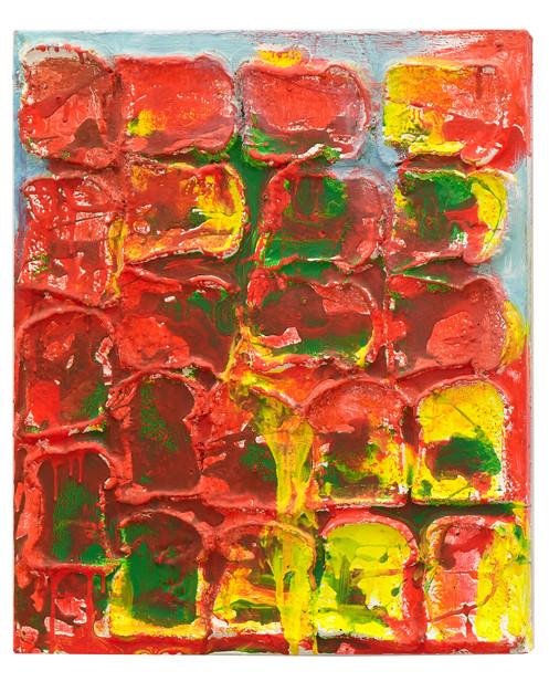 Untitled, 2006 – 2008 Acrylic, gel medium and bread on canvas 22 x 18 inches