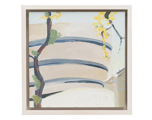 Guggenheim, 2013  Oil on panel 11 1/2 x 11 1/2 inches (framed)