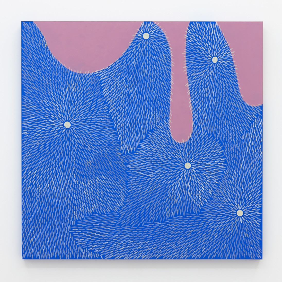 Julia Chiang  Lower Low, 2020   Acrylic on wood panel  48 x 48 inches