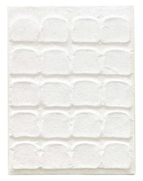 Untitled, 2010 – 2011 Acrylic, gel medium and bread on canvas 24 x 18 inches