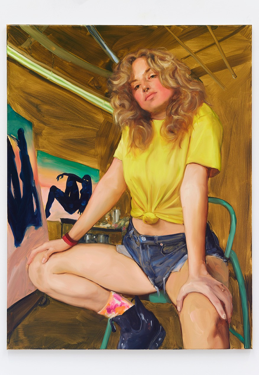 Jenna Gribbon  The Artist Eroticized (Robin), 2020  Oil on linen  48 x 36 inches