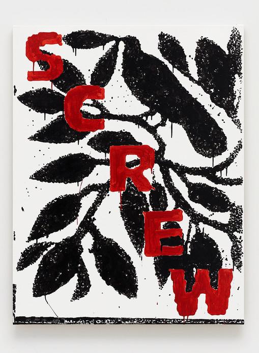 Window  B. Thom Stevenson  Screw, 2021  Acrylic and enamel on canvas  40 x 31 inches