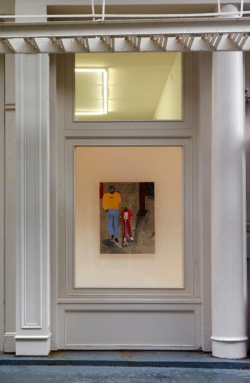 Marcus Leslie Singleton  Tennis Elbow 67  Window Installation View