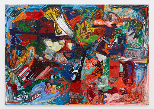 Leelee Kimmel  No. 7, 2021 Acrylic, oil, oil stick and oil pastel on canvas 88 x 124 x 1.5 inches