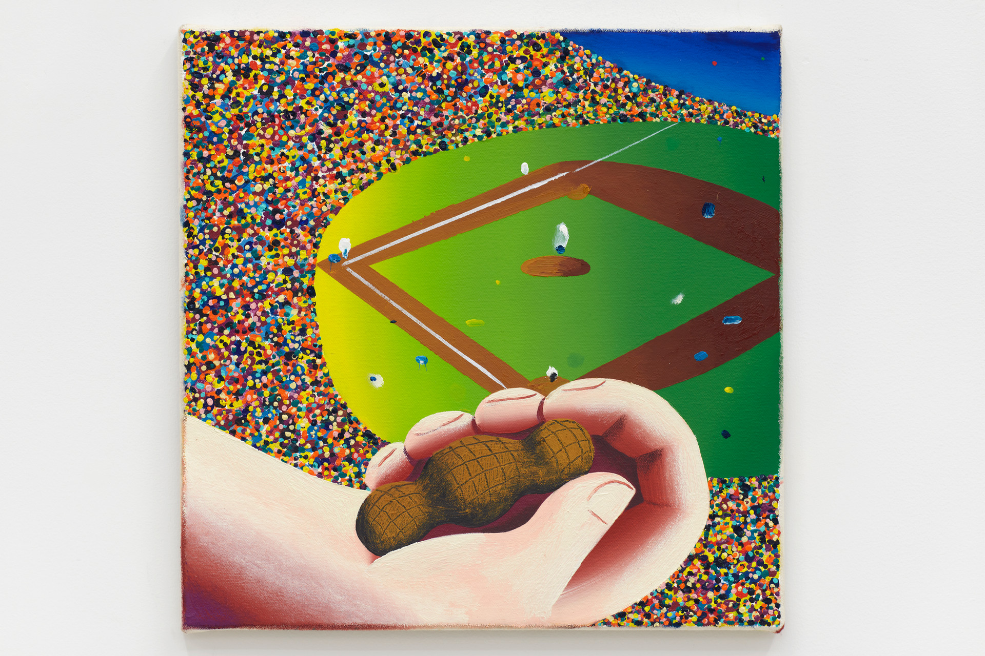 Eleanor Swordy  Ball Game, 2019  Oil on canvas  12 x 12 inches