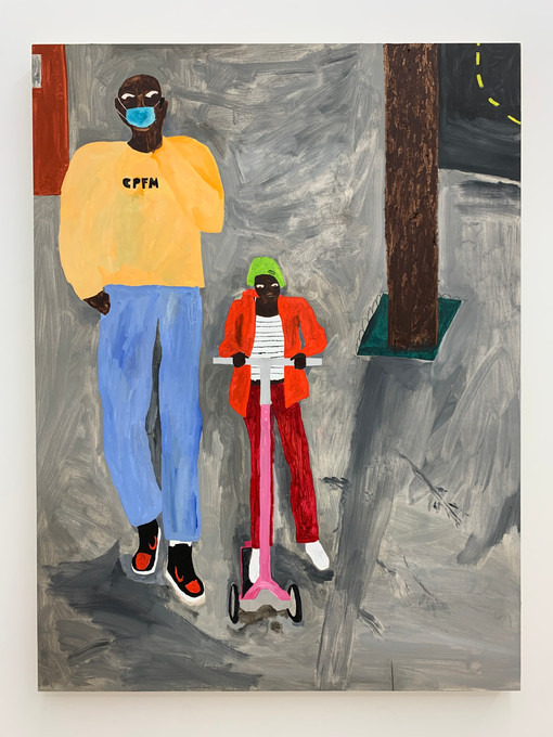 (Window) Marcus Leslie Singleton Scooter, 2020 Oil on panel 40 x 30 inches