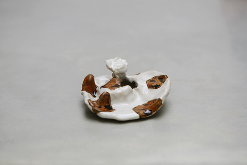 He showed me the first..., 2019 Glazed ceramic 4.7 x 2.1 x 4.2 inches
