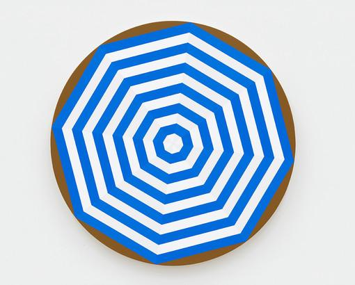 Shawn Powell  Beach Umbrella (Blue), 2021  Acrylic on canvas  30 x 30 inches