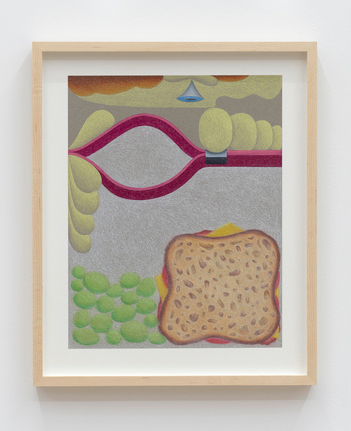Eleanor Swordy  Zip Lock, 2021 Pastel on paper 14 x 11 inches 17.5 x 14.5 x 1.5 inches (framed)