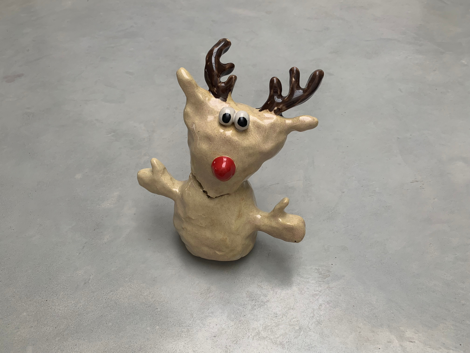 All I want for Christmas..., 2019 Glazed ceramic 4.3 x 8.6 x 3.5 inches