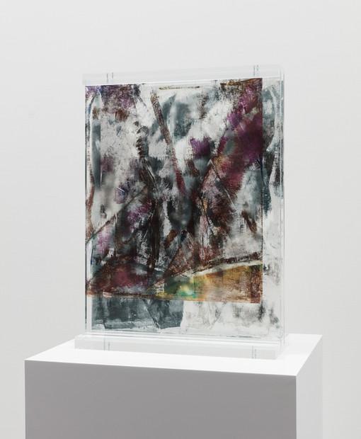 Irregular Dancing, 2019  UV ink on plexiglass  16 x 21 3/4 x 6 inches
