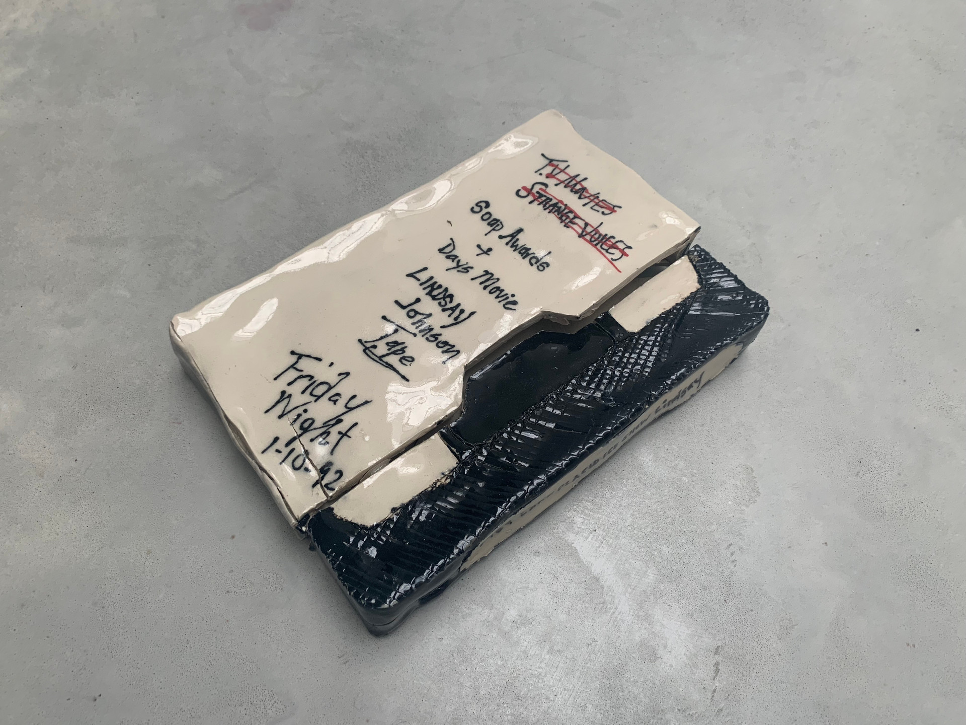 A few days after her sister died..., 2019 Glazed ceramic 8.6 x 1 x 5.9 inches