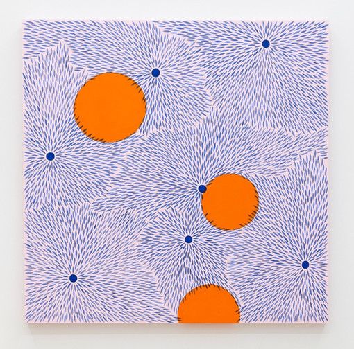 Julia Chiang  Bound Bounce, 2020  Acrylic on wood panel  48 x 48 inches