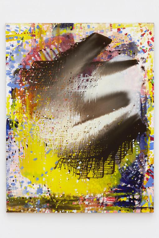 Portrait (Bird), 2018  Oil on linen  57 x 45 inches