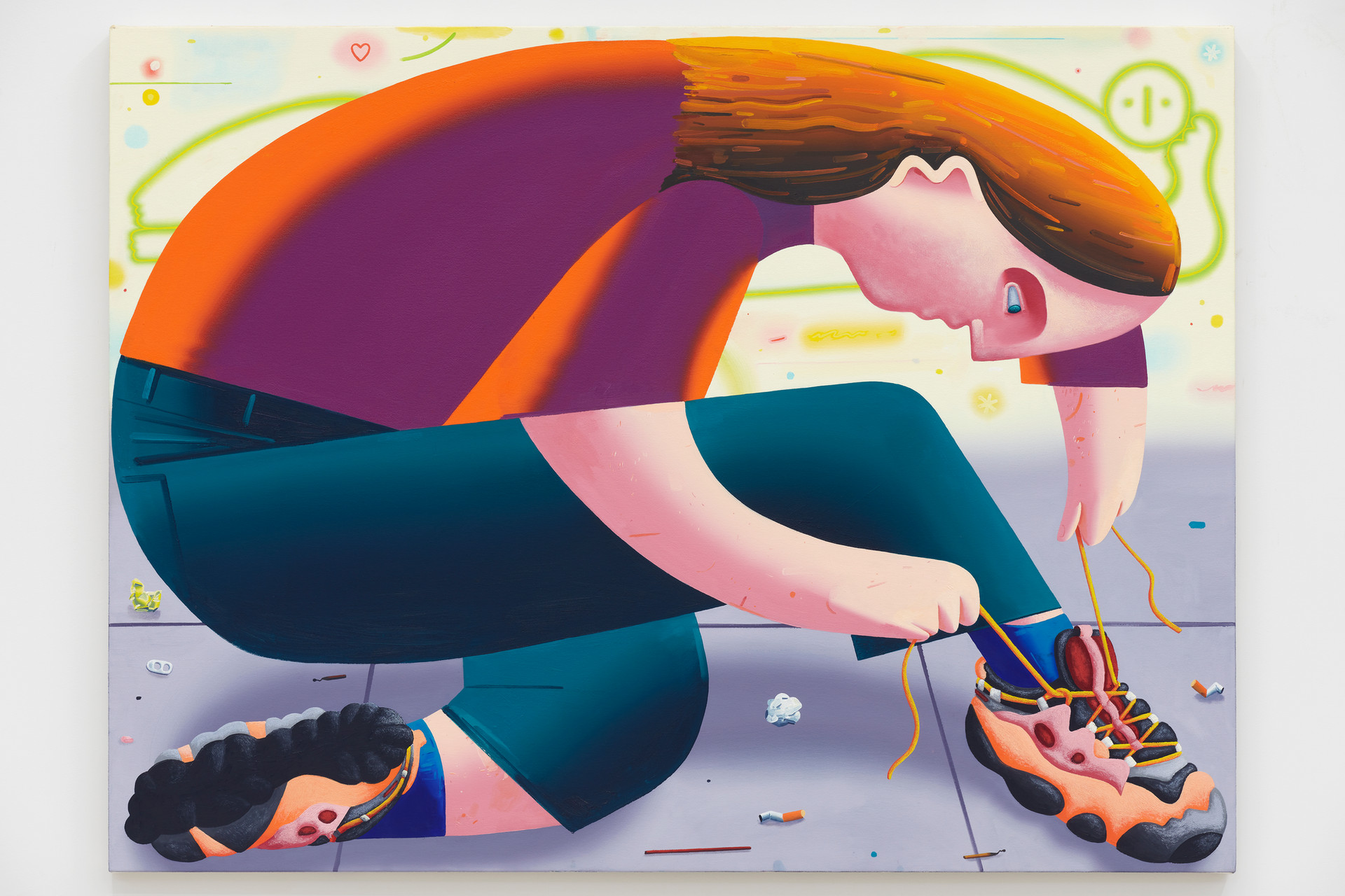 Eleanor Swordy  Tightening, 2019  Oil on canvas  36 x 48 inches
