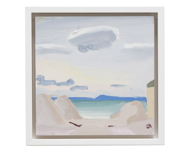 Cloud, Fort Tilden, 2013  Oil on panel  9 1/4 x 9 1/4 inches (framed)