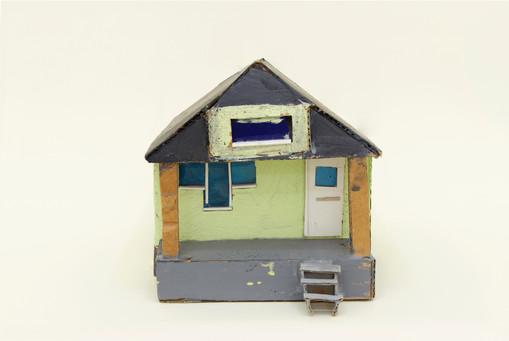 Leo Gabin  Untitled (Real Estate), 2017 – 2019  Acrylic on cardboard  8 x 5 1/2 x 5 1/2 inches