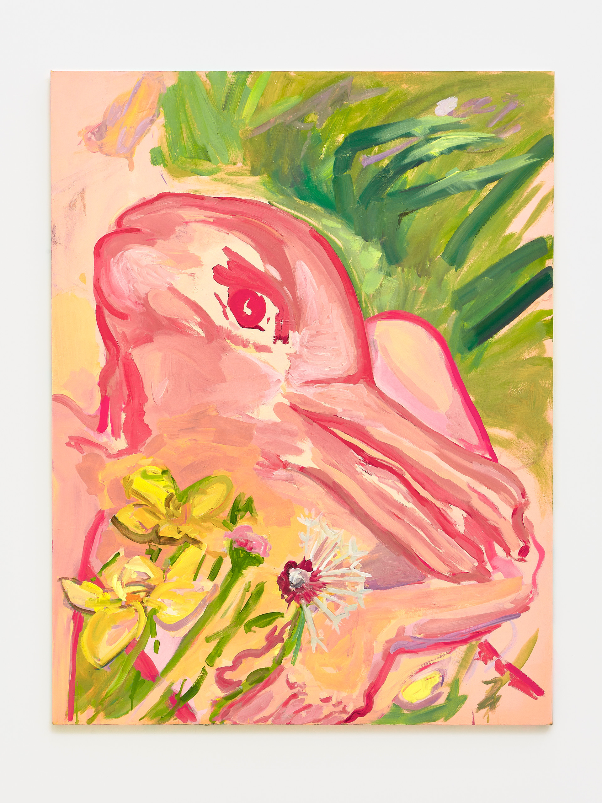 Duck and Rabbit with Dandelion, 2019  Oil on canvas   78 x 60 inches