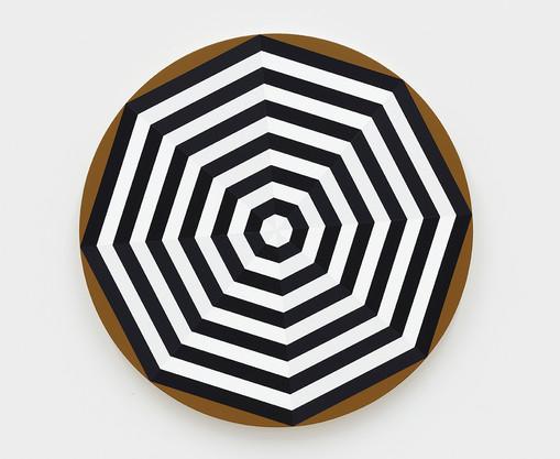 Shawn Powell  Beach Umbrella (Black), 2021  Acrylic on canvas  30 x 30 inches