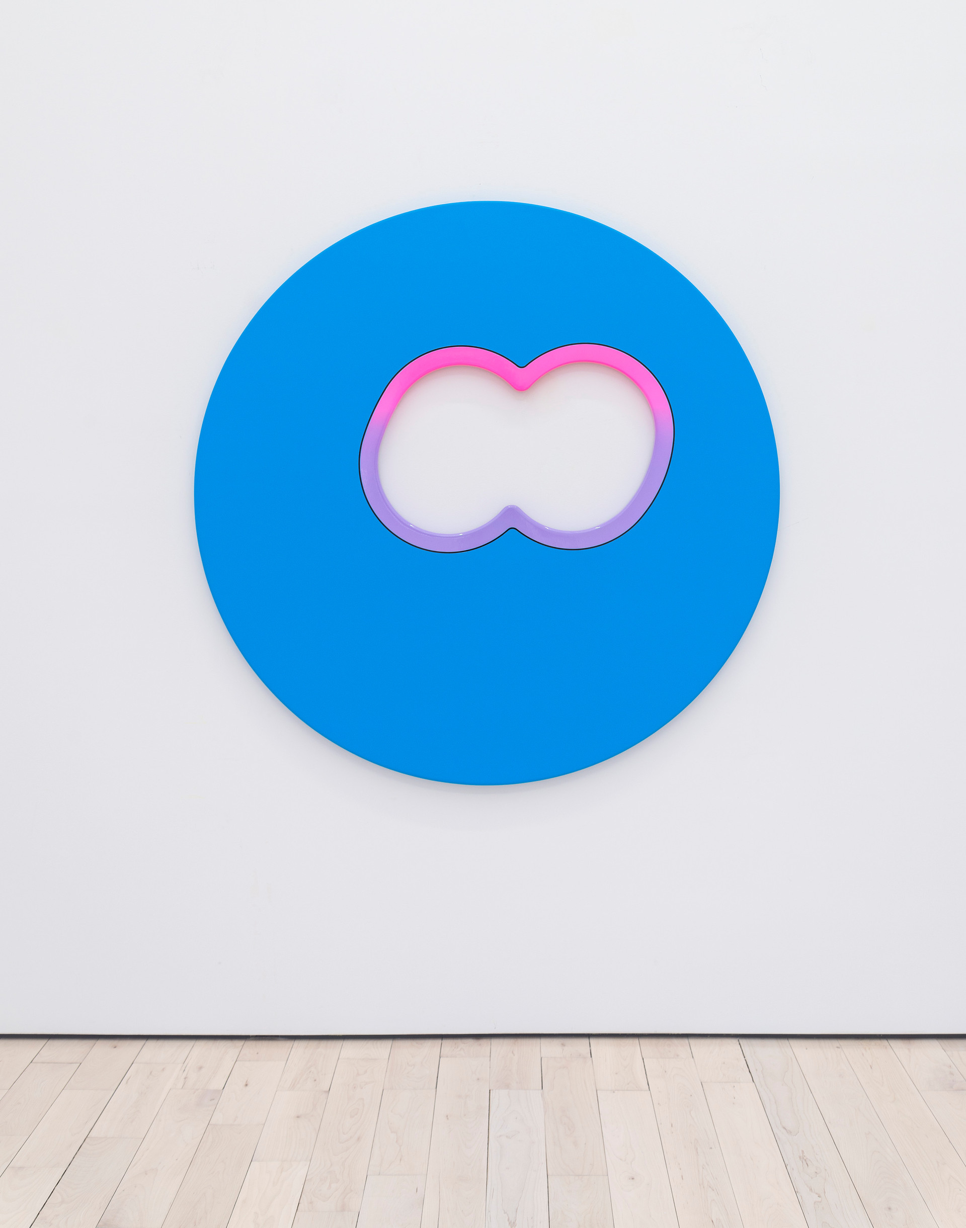 Greg Bogin  Outgoing Message, 2018 – 2019  Acrylic and urethane on canvas  50 x 50 inches