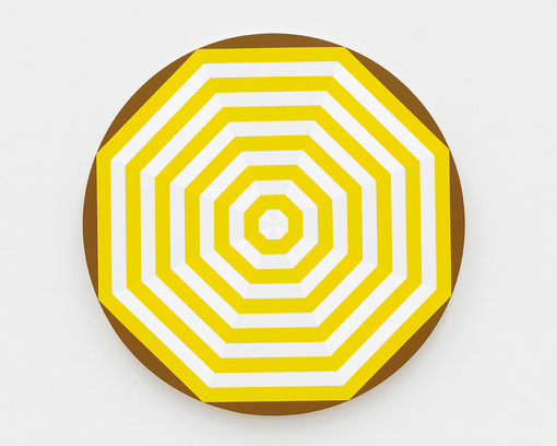 Shawn Powell  Beach Umbrella (Yellow), 2021  Acrylic on canvas  30 x 30 inches