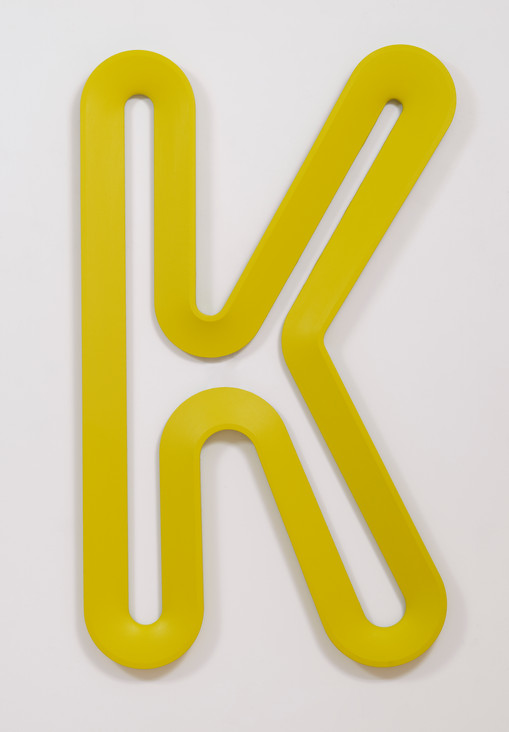 The Kool, 2019 Acrylic on canvas on wood  75 x 45 x 2 1/4 inches