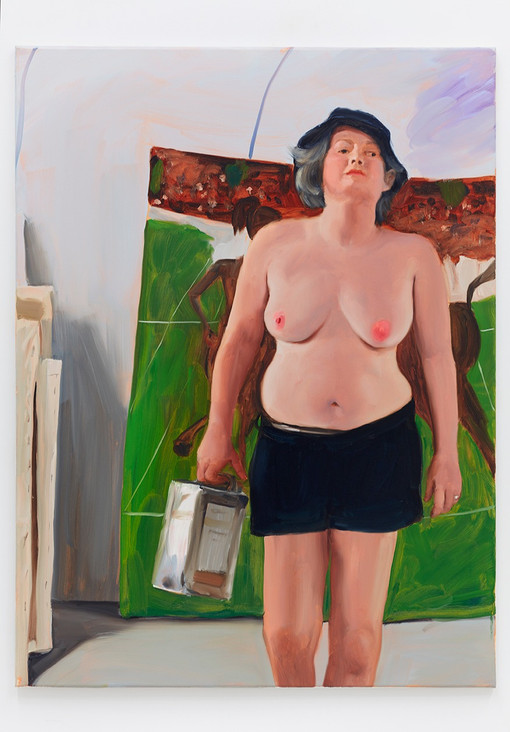 Jenna Gribbon  The Artist Eroticized (Angela), 2020  Oil on linen  40 x 30 inches