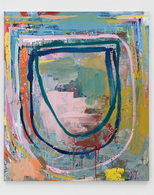 Federico de Francesco  Gigue II, 2020  Oil on canvas  84 x 72 inches