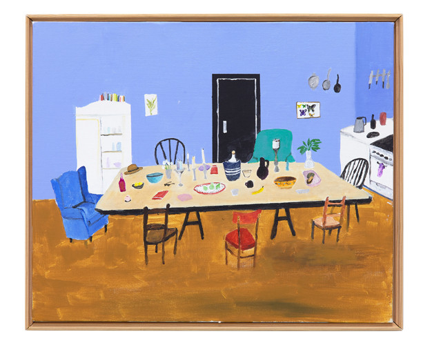 Communal Table, 2016 – 2017 Acrylic on canvas 20 x 24 inches