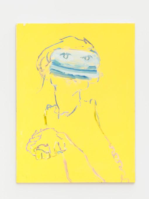Recursive Self-Portrait, 2019   Oil on canvas  40 x 30 inches