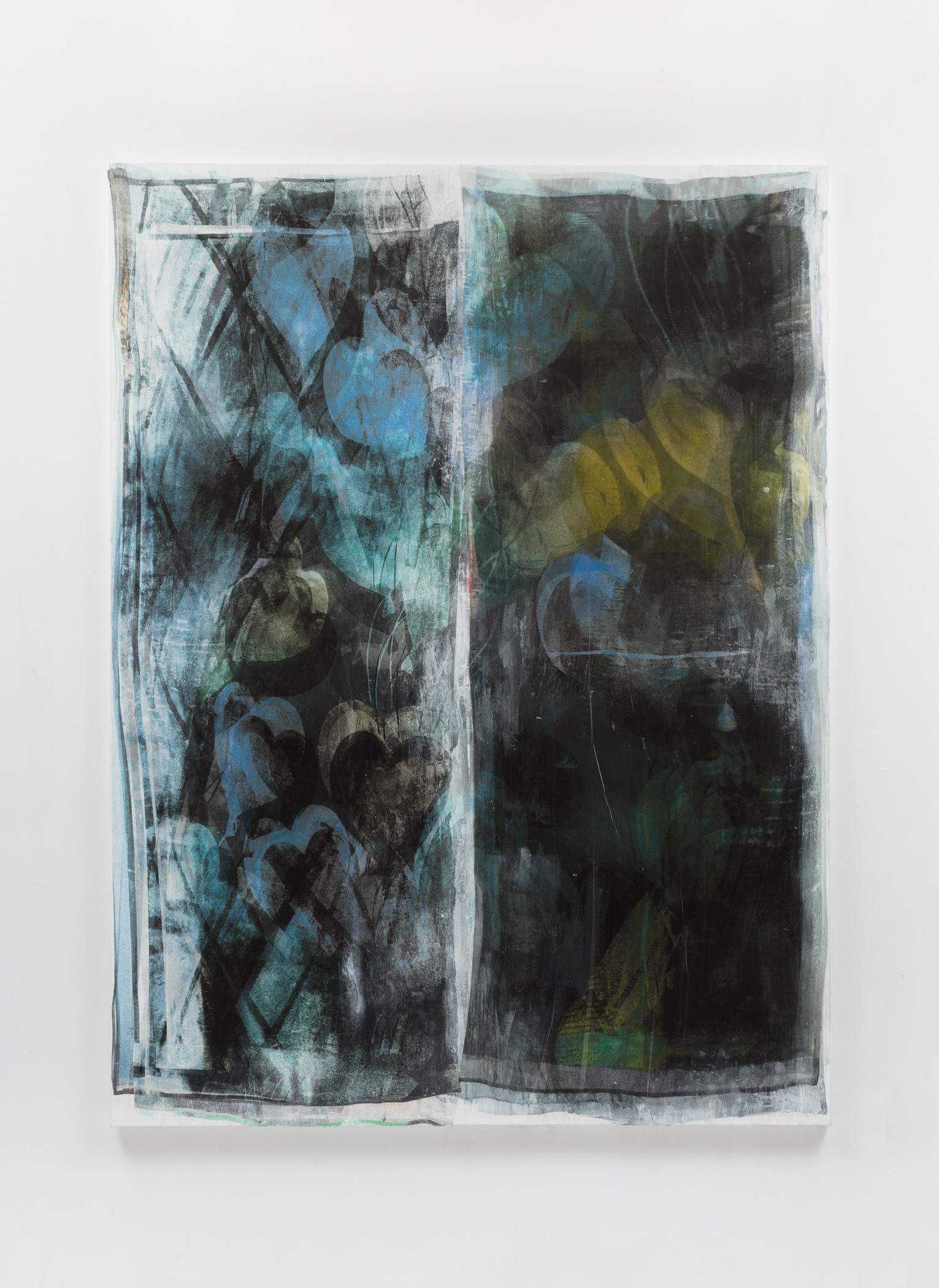 Dead Language, 2018 UltraChrome ink, silk, acrylic on linen  96 x 72 inches
