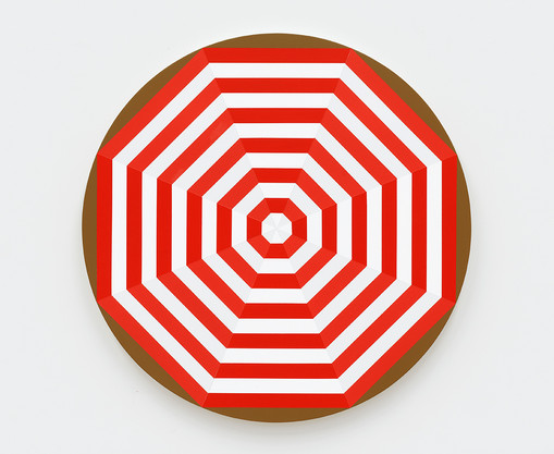 Shawn Powell  Beach Umbrella (Red), 2021  Acrylic on canvas  30 x 30 inches