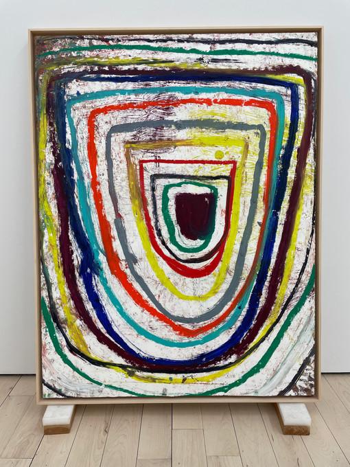 Federico de Francesco  Da Capo Aria I, 2021  Oil pastel on paper mounted on canvas  50 x 38 inches  51.5 x 40 x 2 inches (framed)