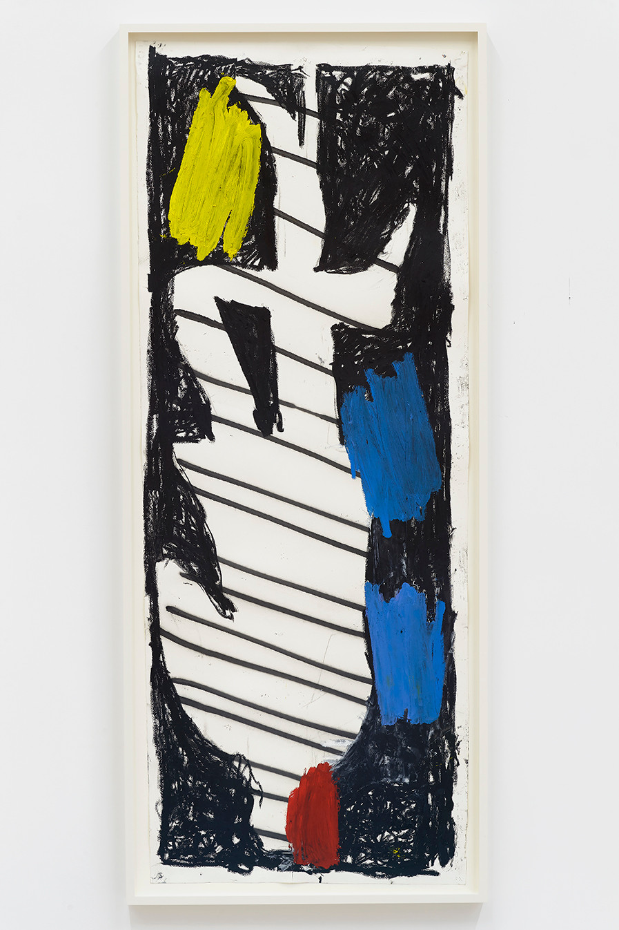 Spencer Sweeney Hanged Man #2, 2020 Oil pastel, oil stick and spray paint on paper 71 1/2 x 27 1/4 inches 74.5 x 30.75 inches (framed)