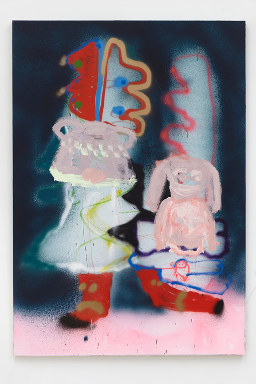 Marco Pariani  Dressed like a Baby, 2021  Oil, acrylic and enamel on canvas  72 x 50 inches