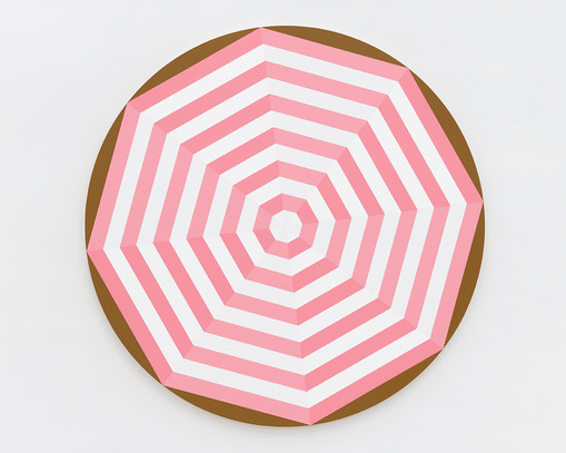 Shawn Powell  Beach Umbrella (Pink), 2021  Acrylic on canvas  72 x 72 inches