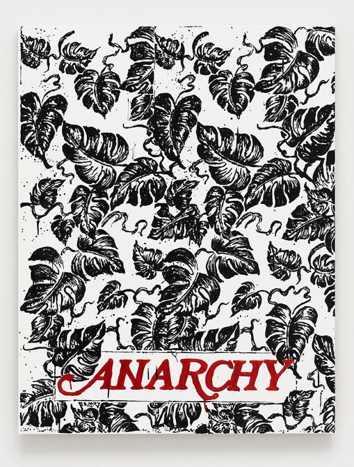 B. Thom Stevenson  Anarchy 1, 2021  Acrylic and enamel on canvas  40 x 31 inches