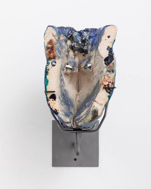 Cameron Jamie  Rolls Like Thunder, 2019  Glazed ceramic   14 x 7 x 9 inches