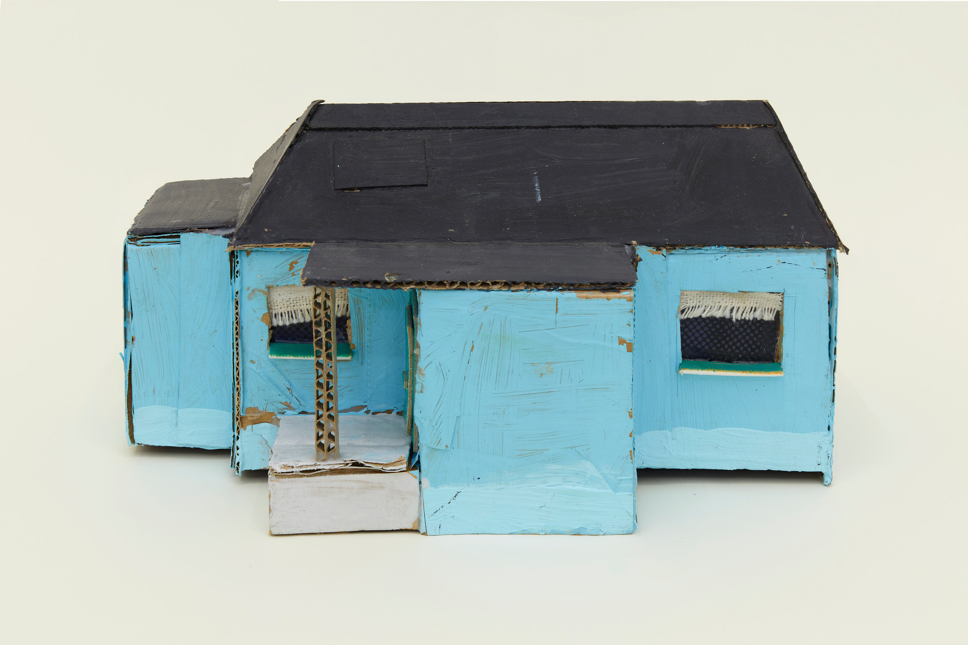 Leo Gabin  Untitled (Real Estate), 2017 – 2019  Acrylic on cardboard  9 x 5 x 5 1/2 inches