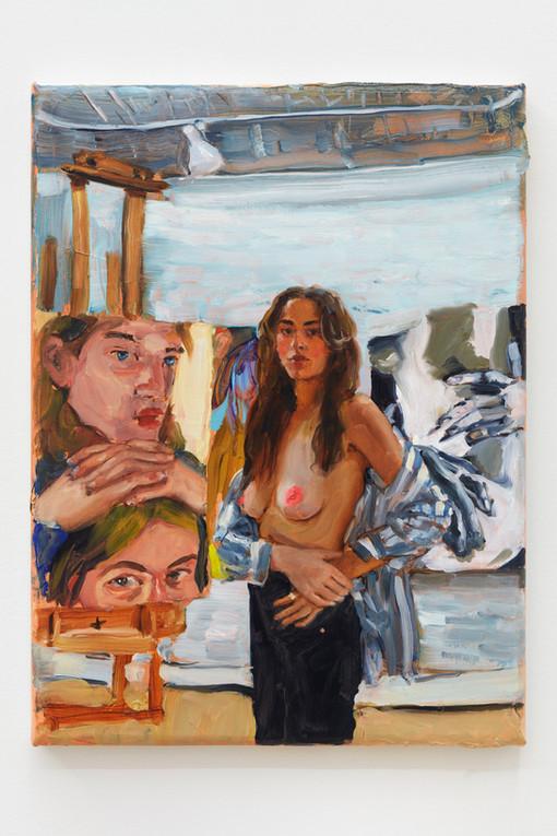 Jenna Gribbon The Artist Eroticized (Chloe), 2020 Oil on linen 12 x 9 inches