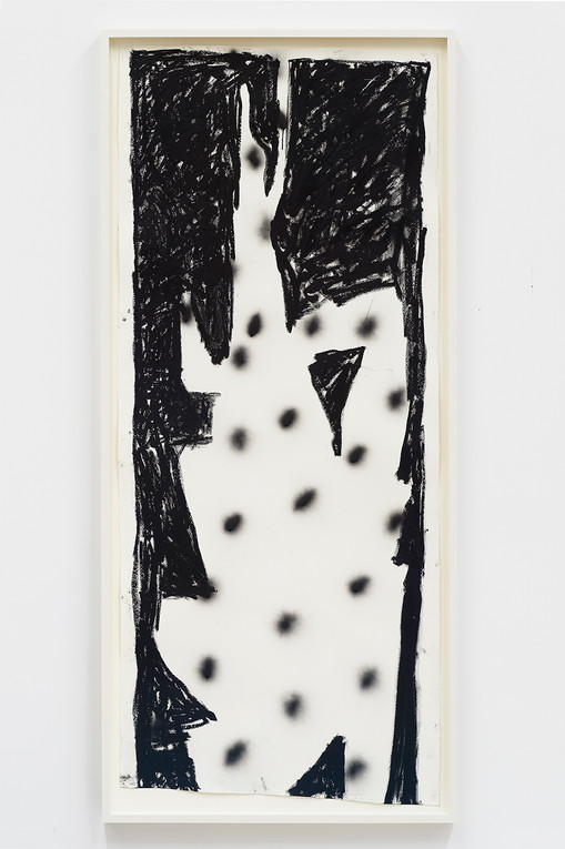 Spencer Sweeney Hanged Man #1, 2020Oil pastel and spray paint on paper69 1/4 x 28 1/2 inches71 x 31.5 inches (framed)