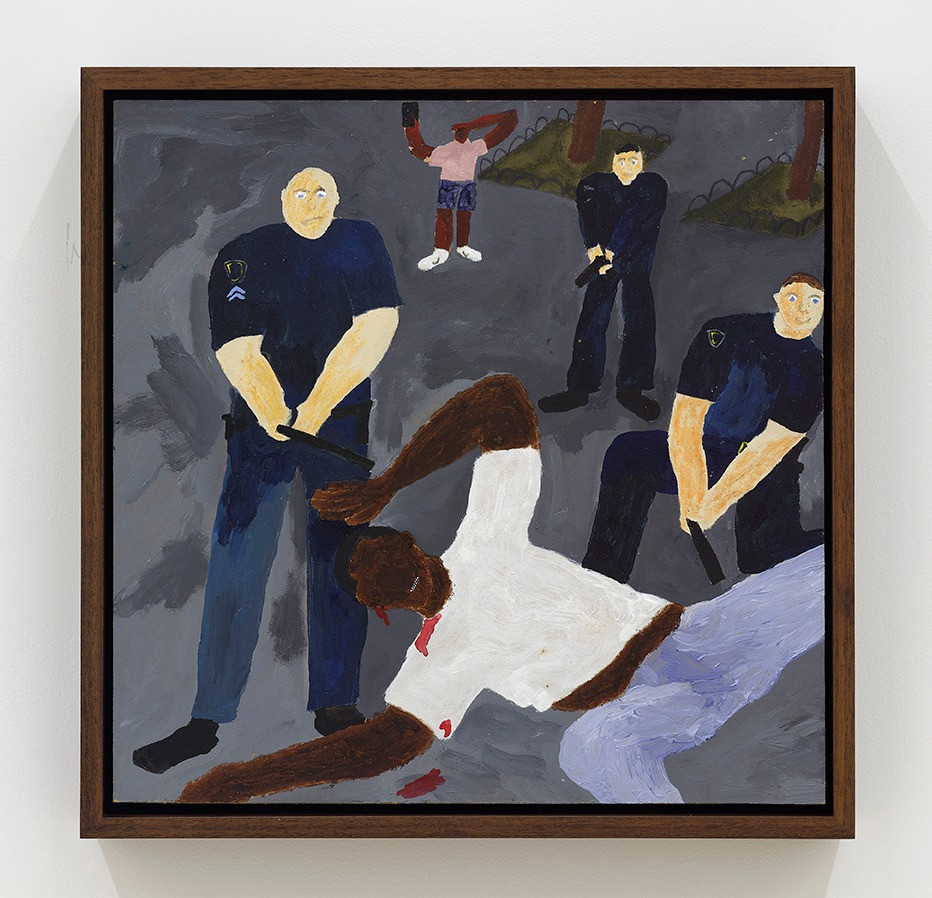Marcus Leslie Singleton   The Crucifixion of Jesus Christ, 2020   Acrylic on panel   12 x 12 inches  13.25 x 13.25 x 2.5 inches (framed)