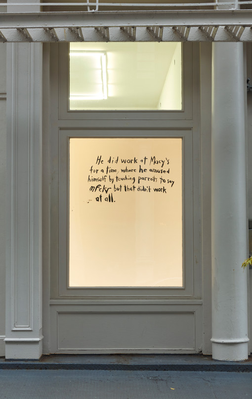 Raymond Pettibon  Tennis Elbow 70  Window Installation View