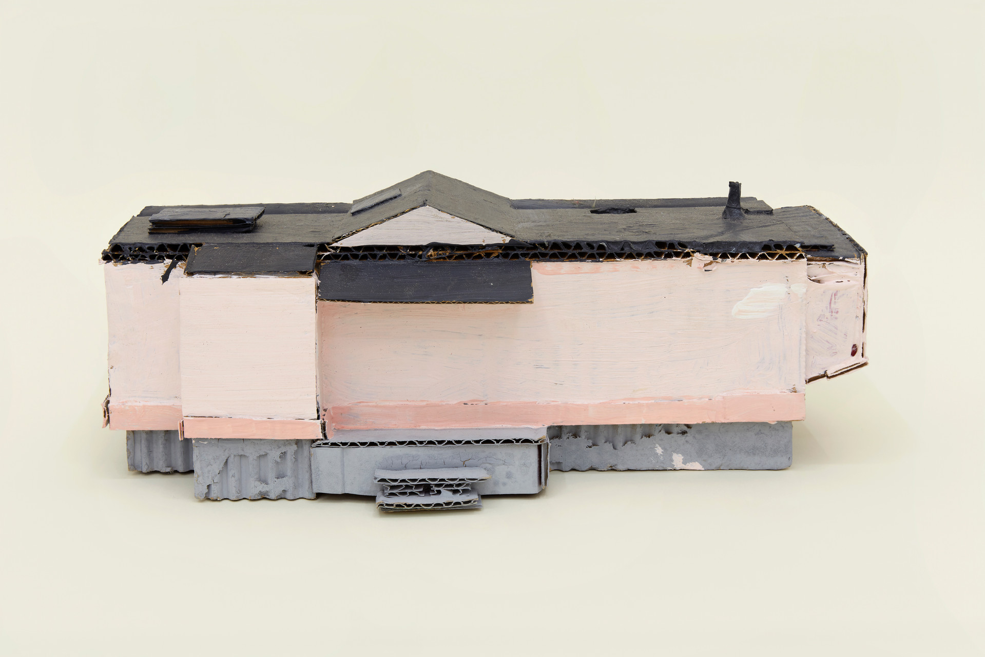 Leo Gabin  Untitled (Real Estate), 2017 – 2019  Acrylic on cardboard  10 x 4 x 3 1/2 inches