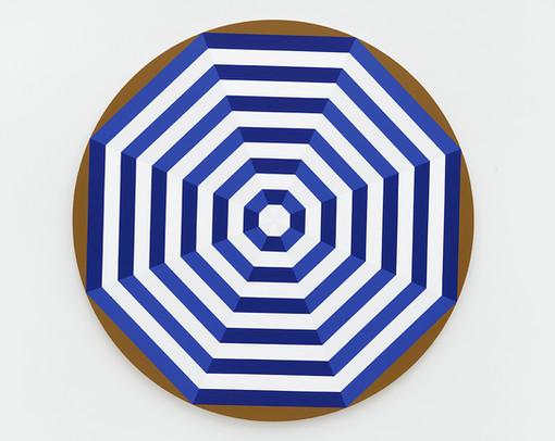 Shawn Powell  Beach Umbrella (Violet), 2021  Acrylic on canvas  72 x 72 inches