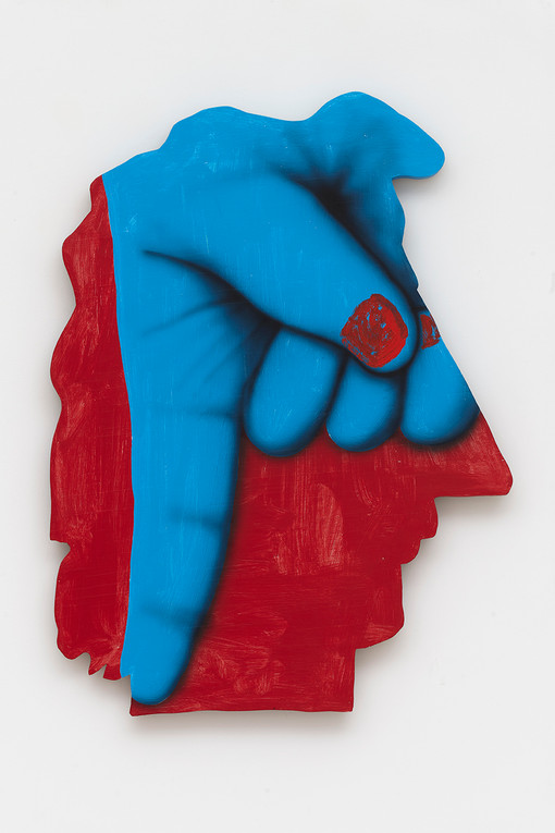 James English Leary  Cameo (12), 2020  Acrylic on shaped panel  34 x 25 inches
