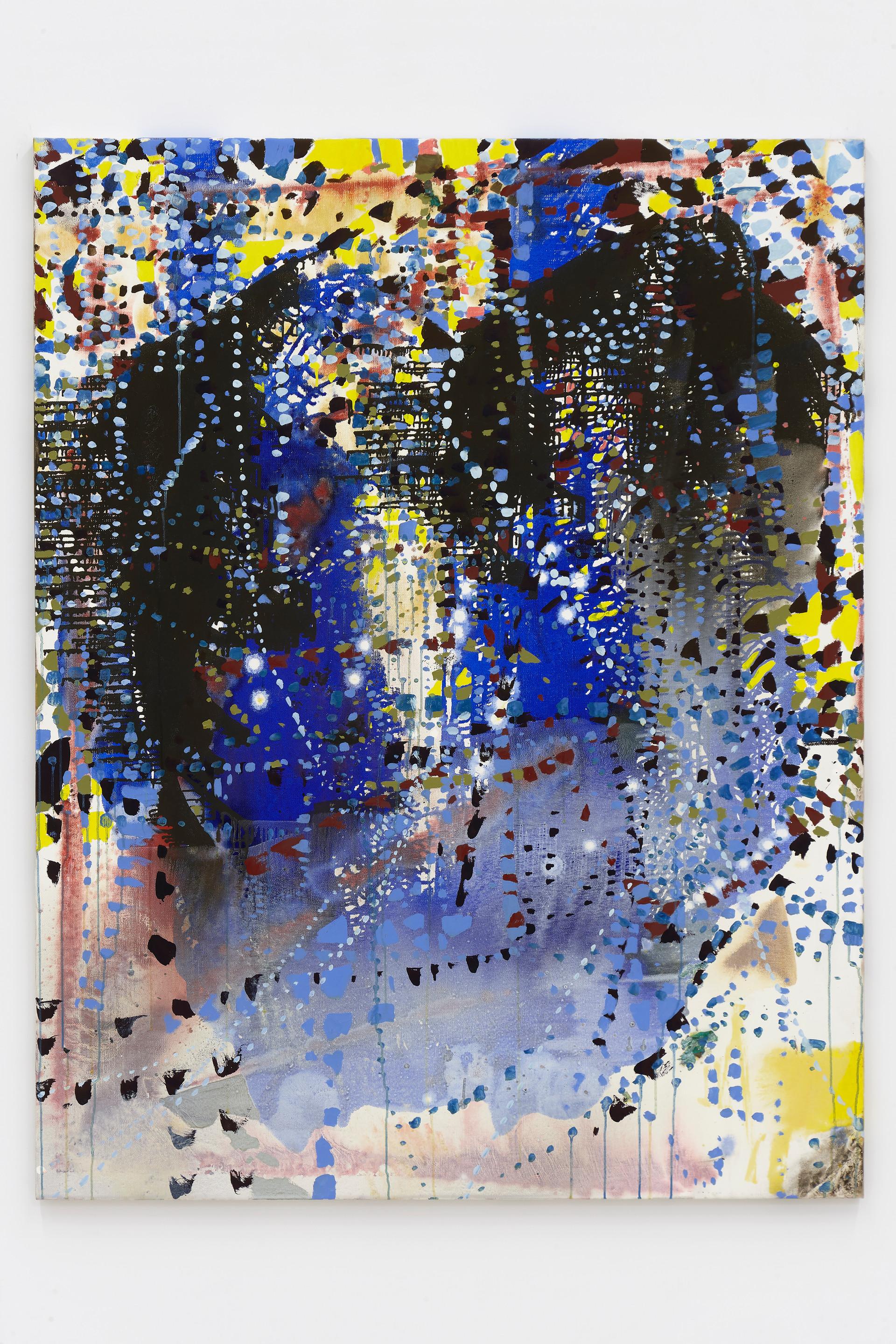 Portrait (Blue Daze), 2018  Oil on linen  57 x 45 inches