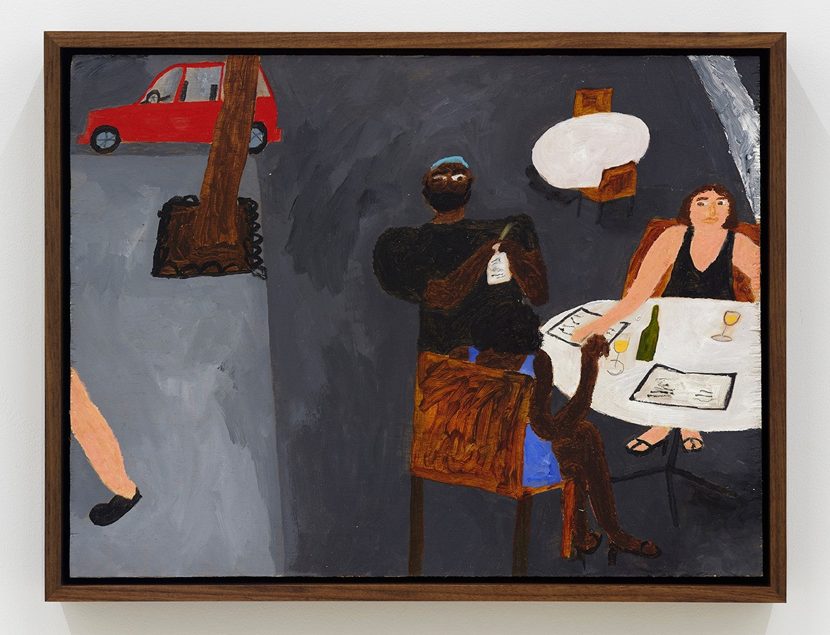 Marcus Leslie Singleton    Street Eating, 2020   Acrylic on panel 12 x 16 inches    13.25 x 17.25 x 2.5 inches (framed)